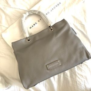Marc by Marc Jacob leather tote in storm cloud